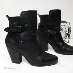 Rag & Bone Kinsey Black Leather Bootie